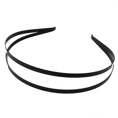 Black Double Metal Headband