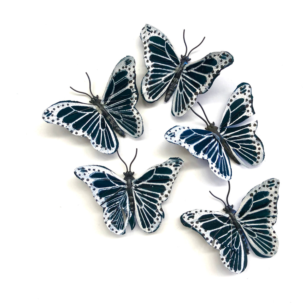 Feather Butterflies Style 4 MINI 5 Pack - Black