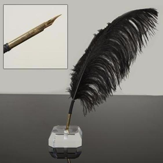 Ostrich Feather Quill Pen