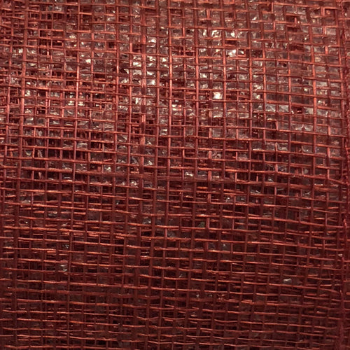 Sinamay Craft Ribbon Roll 10mtrs - Blood Red