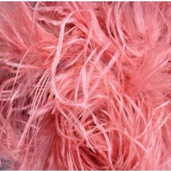 Ostrich & Marabou Feather Boa - Dusty Pink