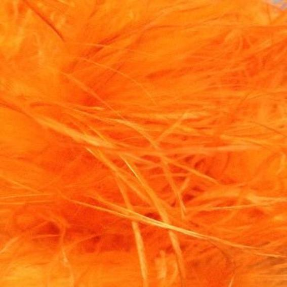 Ostrich & Marabou Feather Boa Trim per 10cm - Orange