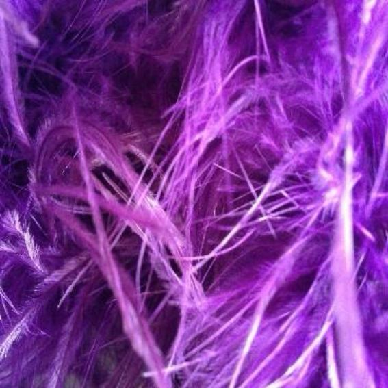 Ostrich & Marabou Feather Boa Trim per 10cm - Purple