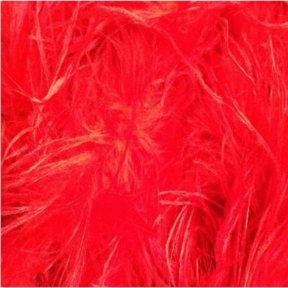 Ostrich & Marabou Feather Boa - Red