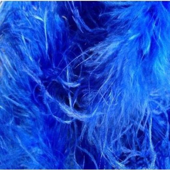 Ostrich & Marabou Feather Boa Trim per 10cm - Royal Blue
