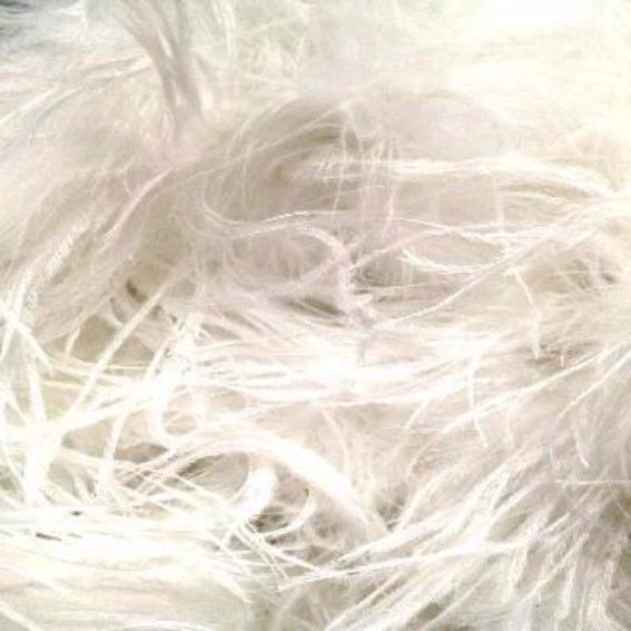 Ostrich & Marabou Feather Boa Trim per 10cm - White