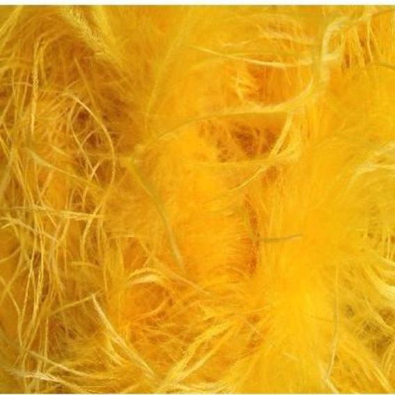 Ostrich & Marabou Feather Boa - Yellow