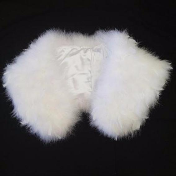 Great Gatsby 1920's Bridal Flapper Feather Shawl - White