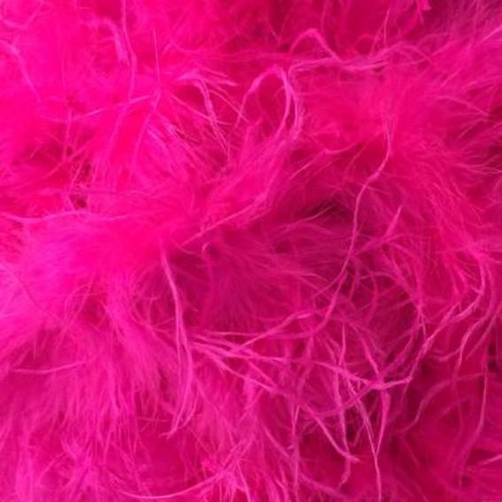 Ostrich & Marabou Feather Boa Trim per 10cm - Cerise