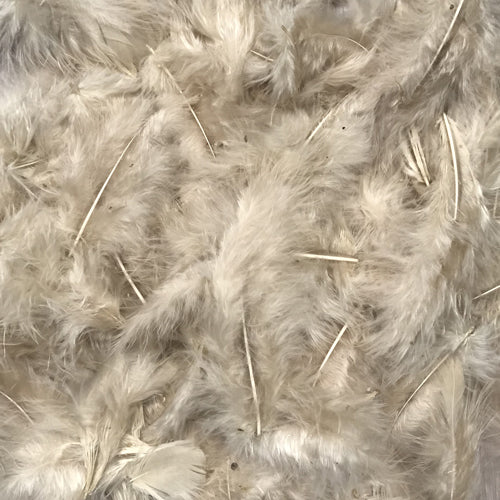 Fluffy Marabou Feather Plumage 10 grams - Champagne