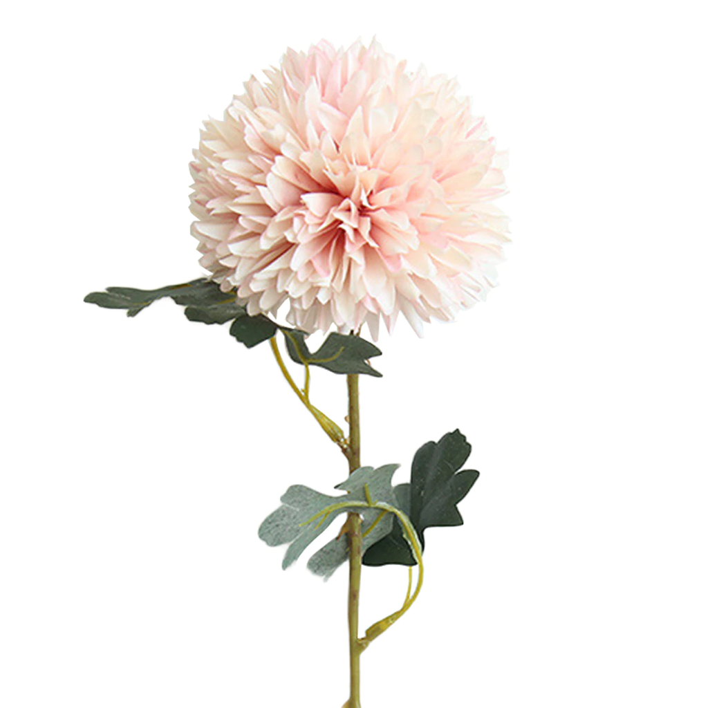 Artificial Silk Chrysanthemum Flower Stem - Light Pink