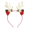 Christmas Holiday Reindeer Floral Headband - Gold Glitter (Style 3)