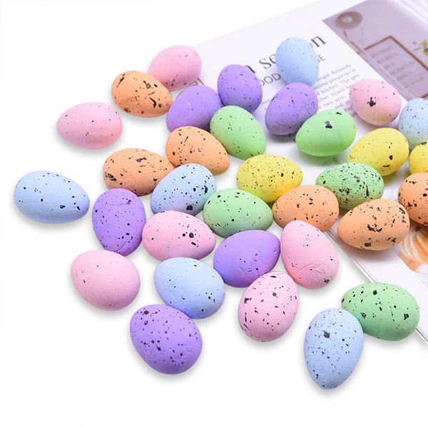 Artificial Mini Foam Easter Bird Eggs 30 pcs - Rainbow Speckle 30 pcs (BULK PACK)