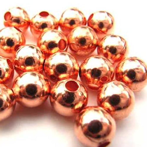 Spacer Beads 8mm Pack of 10 - Copper