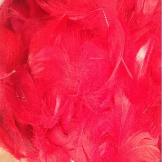 Goose Coquille Feathers 10 grams - Red