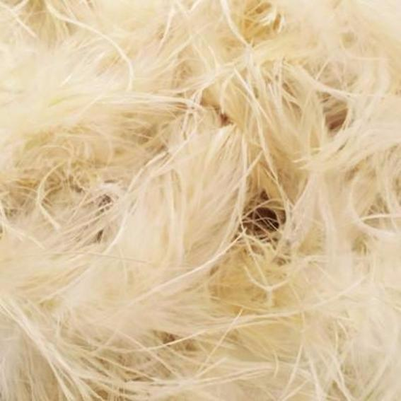 Ostrich & Marabou Feather Boa Trim per 10cm - Cream