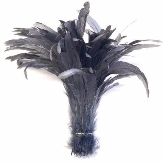"10/12"" - 280mm Dark Grey Coque Tail Feathers - 10 grams"