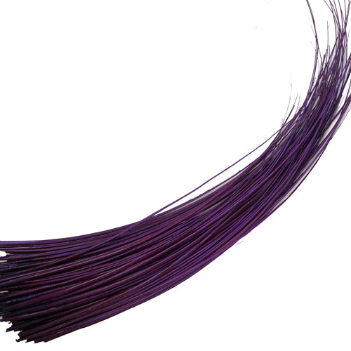Ostrich Feather Quill Spine Barb - Eggplant