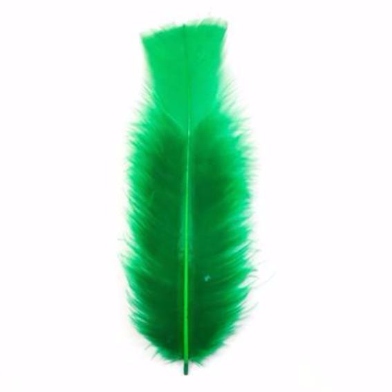 Flat Top Marabou Feather Pack 10 grams - Emerald Green