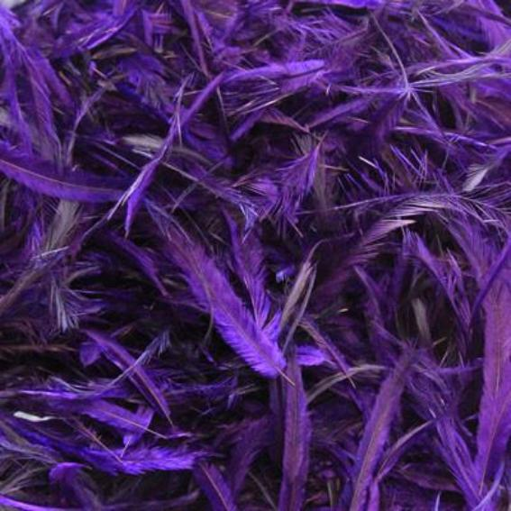 Emu Feathers 5 grams - Deep Purple