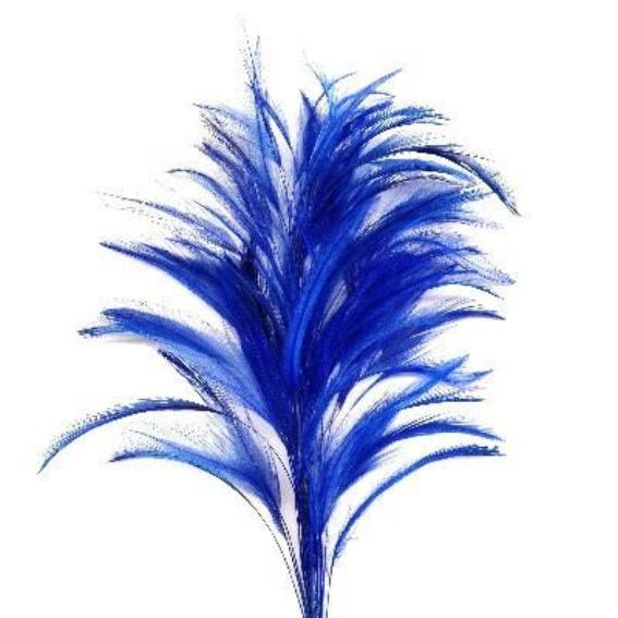 Royal Blue Coque Feather Tree