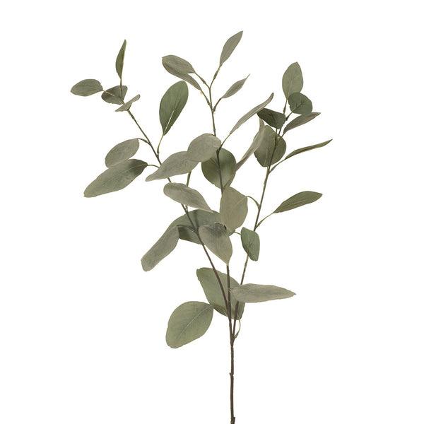 Artificial Australian Native Silk Silver Dollar Eucalyptus Greenery Spray - Green Grey  (STYLE 8)