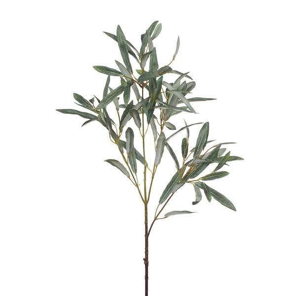 Artificial Silk Olive Leaf Spray - Grey Green