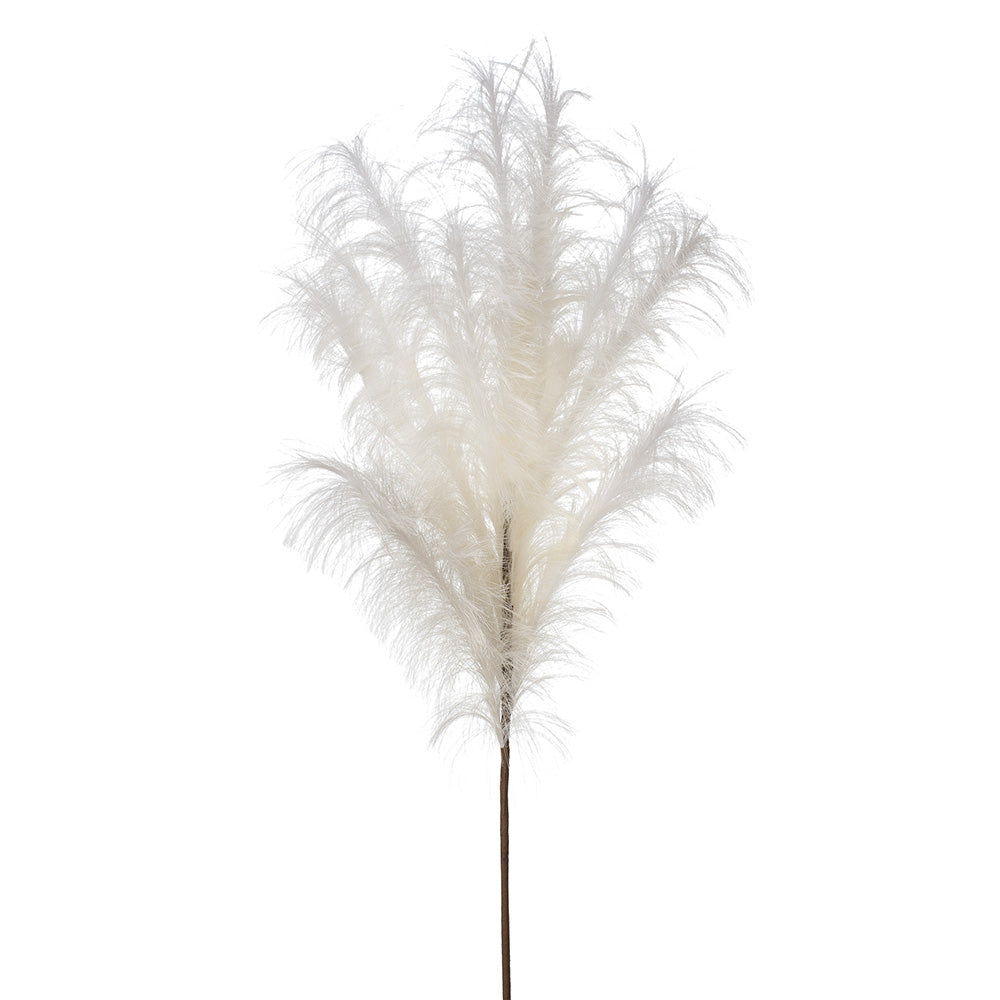 Artificial Pampas Plume Grass Spray - Cream (Style 5)