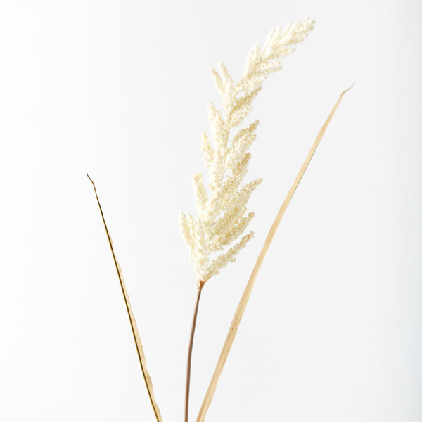 Artificial Astible Grass Flower Stem - Cream