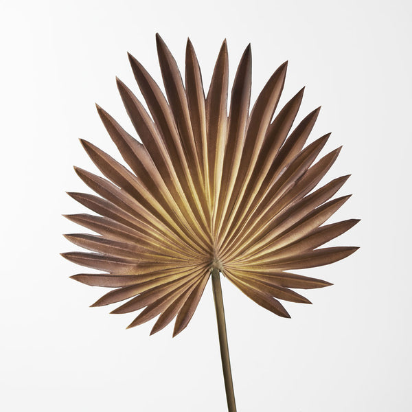 Artificial Palm Frond Fan Leaf  - Brown