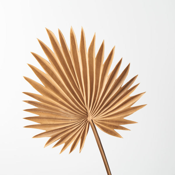 Artificial Palm Frond Fan Leaf  - Toffee