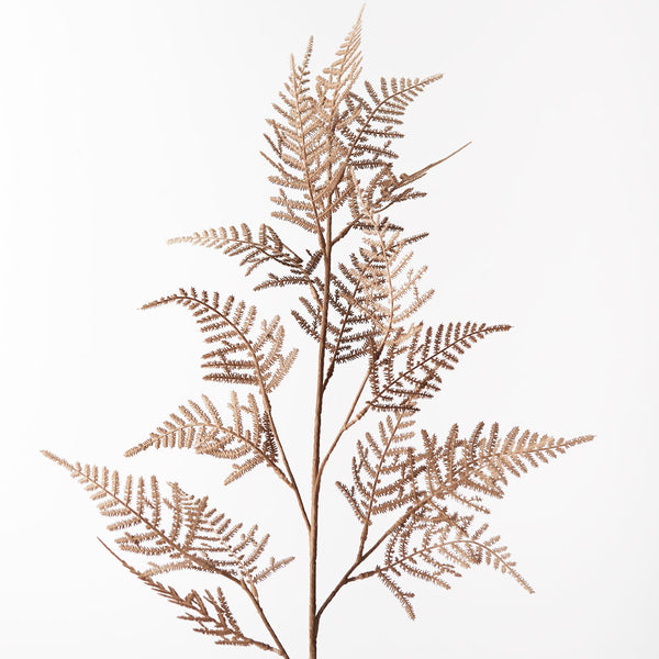 Artificial Fern Spray - Brown