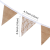 Wedding Party Vintage Rustic Lace & Burlap Hessian Bunting Garland - White