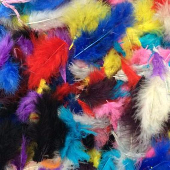 Fluffy Marabou Feather Plumage Pack 10 grams - Assorted
