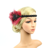 Great Gatsby 1920's Flapper Feather Headdress Fancy Dress - Red (Style 10)