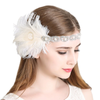 Great Gatsby 1920's Flapper Feather Headdress Fancy Dress - White (Style 10)