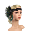 Great Gatsby 1920's Flapper Feather Headdress Fancy Dress - Natural Peacock (Style 9)