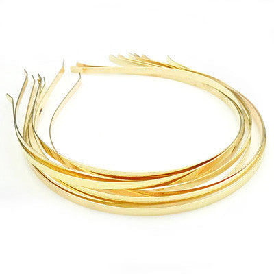 Gold Metal Headband 3mm