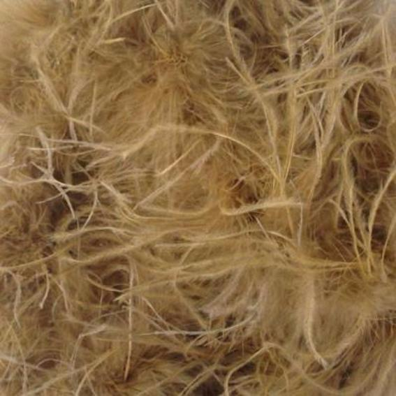 Ostrich & Marabou Feather Boa Trim per 10cm - Gold