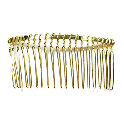 Gold Wire Metal Hair Comb