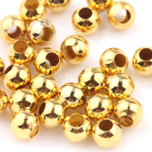 Spacer Beads 6mm Pack of 10 - Gold
