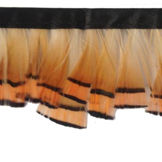 Golden Cape Pheasant Feather Trimming per metre