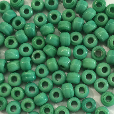 Green Crow Beads 9mm x 10