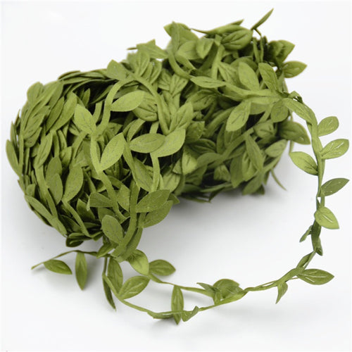 Artificial Silk Leaf Vine Garland Spool 10 mtrs - Green