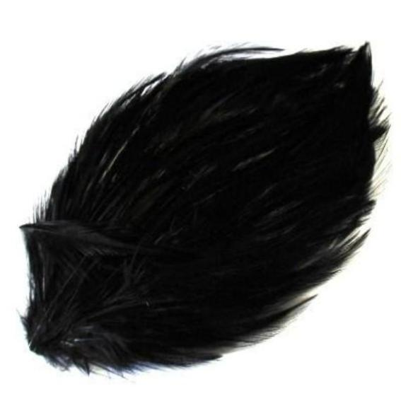 Black Coque Hackle Feather Pad