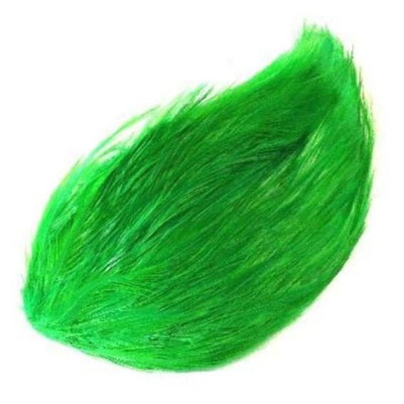 Coque Hackle Feather Pad - Lime Green