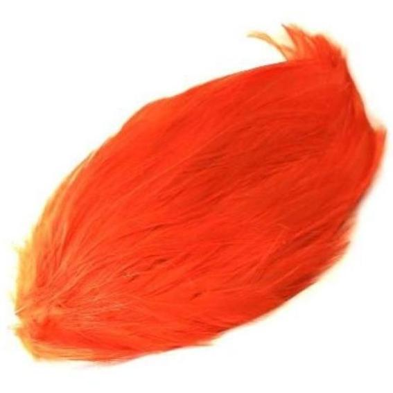Coque Hackle Feather Pad - Orange