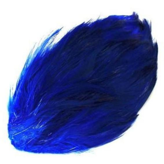 Coque Hackle Feather Pad - Royal Blue