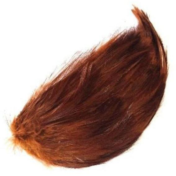 Tan Brown Coque Hackle Feather Pad