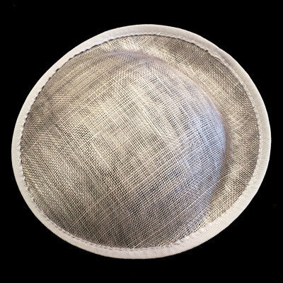 Grey Saucer Sinamay Base Small